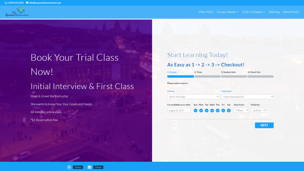 Online Classes Trial