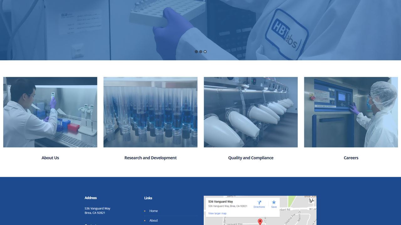 Pharmaceutical Laboratory Homepage 2